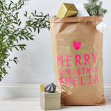 Neon Personalised Christmas Sack
