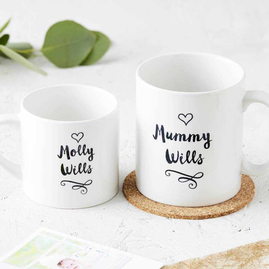 New Family Personalised Mug Set