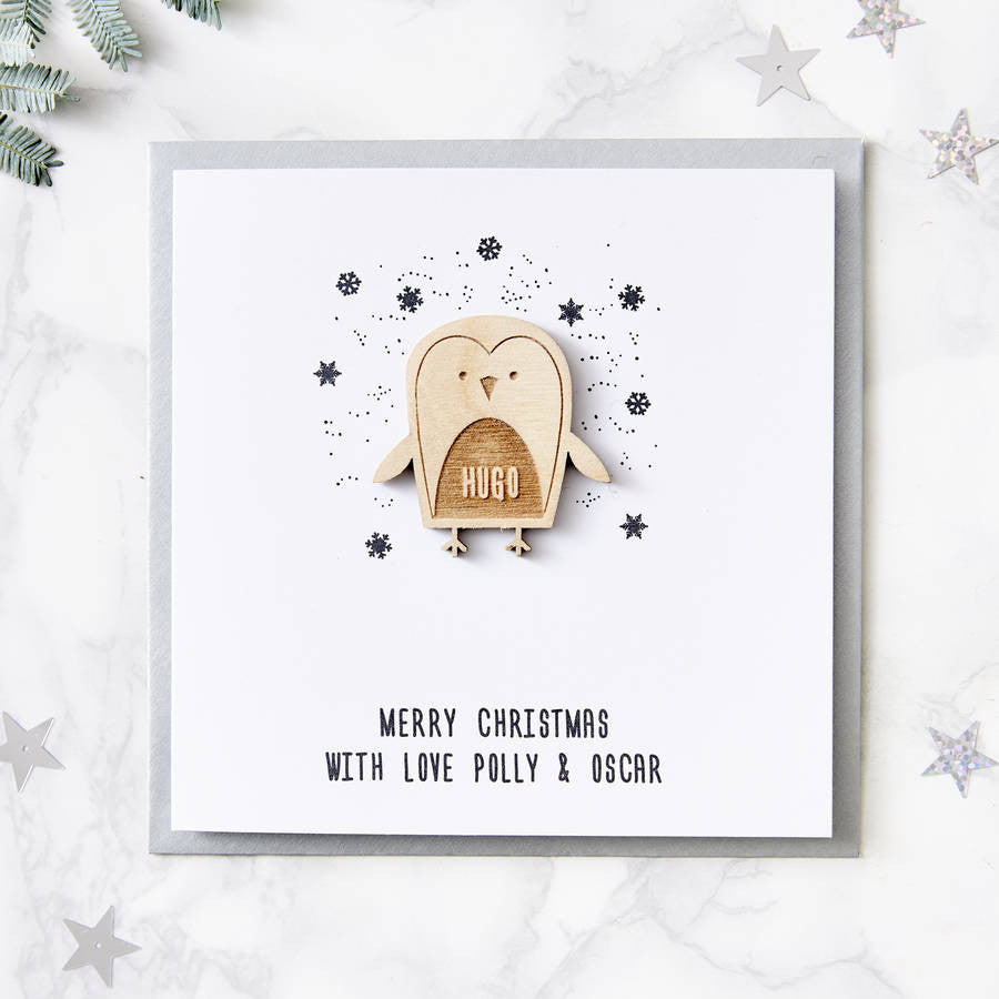 Penguin Personalised Christmas Card