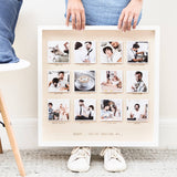 Personalised Amazing Dad Wooden Framed Photo Print