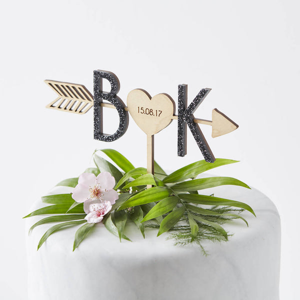 Personalised Arrow Initial Cake Topper