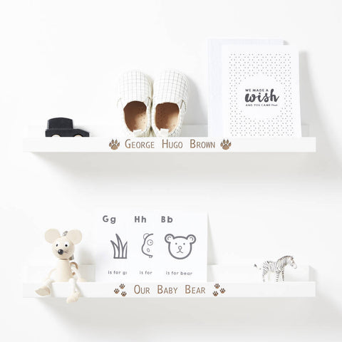 Personalised Baby Bear Shelf