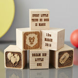 Personalised Baby Keepsake Circus Building Block