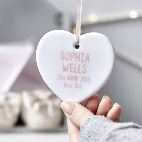 Personalised Baby Keepsake Decoration