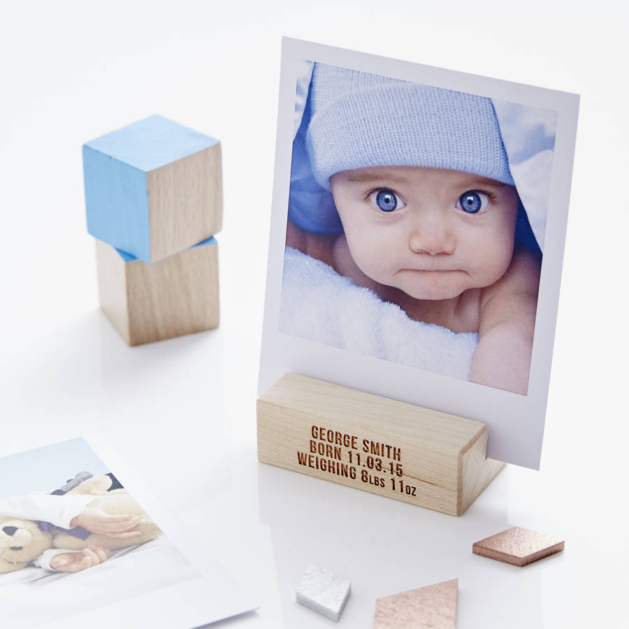 Personalised Baby Photo Block