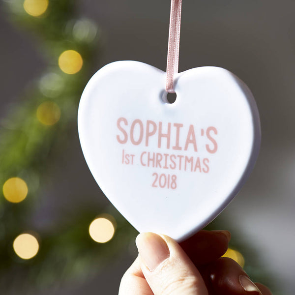 Personalised Baby's First Christmas Decoration