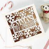 Personalised Babys First Christmas Keepsake Box