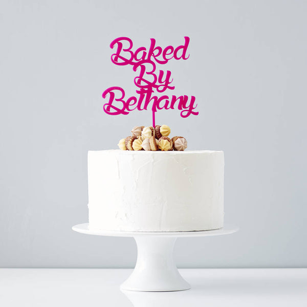 Personalised Baked By Cake Topper