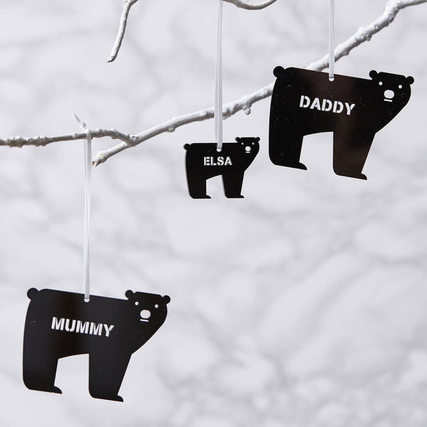 Personalised Bear Christmas Decoration