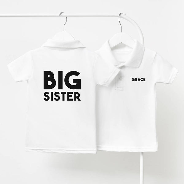 Personalised Big Sister Children's Polo Shirt