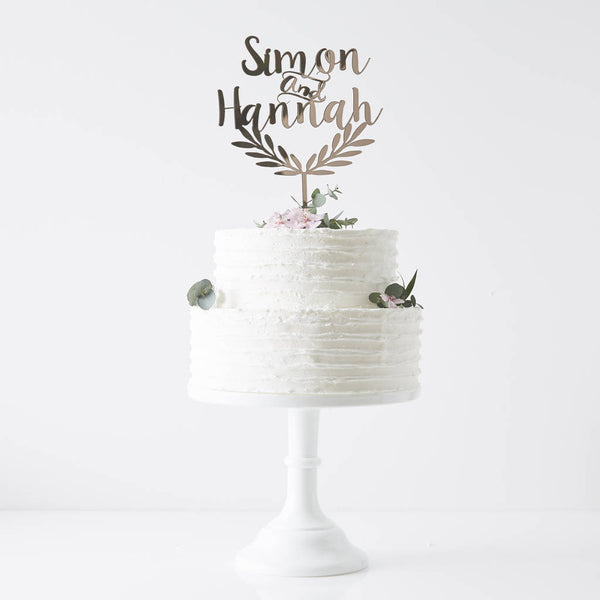 Personalised Grecian Wedding Cake Topper
