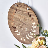 Personalised Botanical Wooden Wall Art