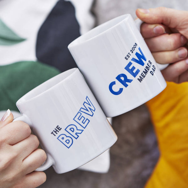 Brew Crew Personalised Mug Set