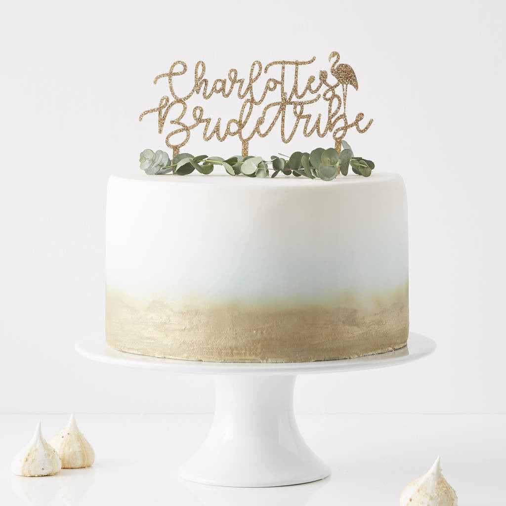Personalised Bride Tribe Cake Topper