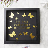 Personalised Butterfly Framed Christening Print