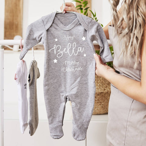 Christmas Personalised Babygrow