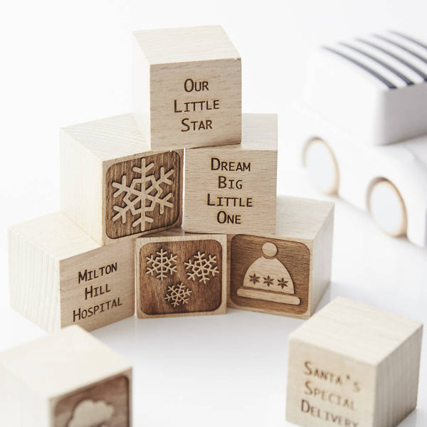 Personalised Christmas Building Blocks