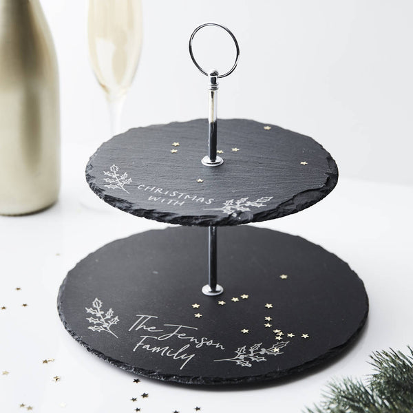 Personalised Christmas Cake Stand
