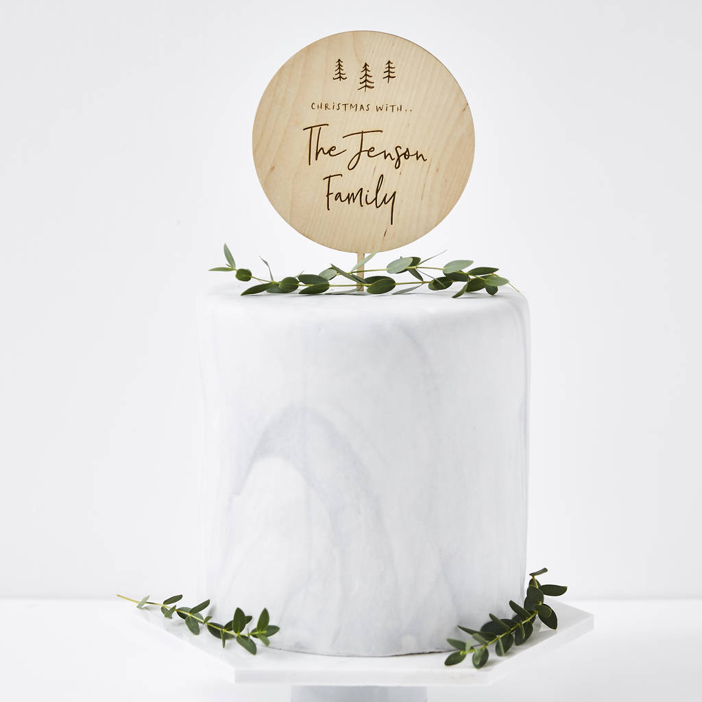 Personalised Christmas Cake Topper