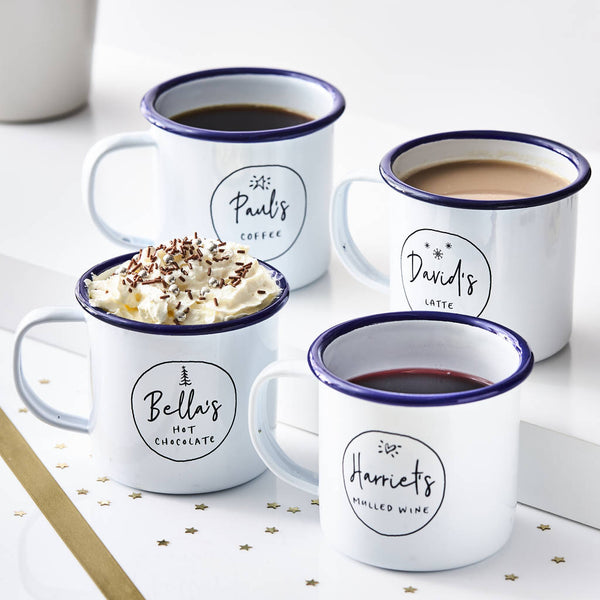 Personalised Christmas Enamel Mug