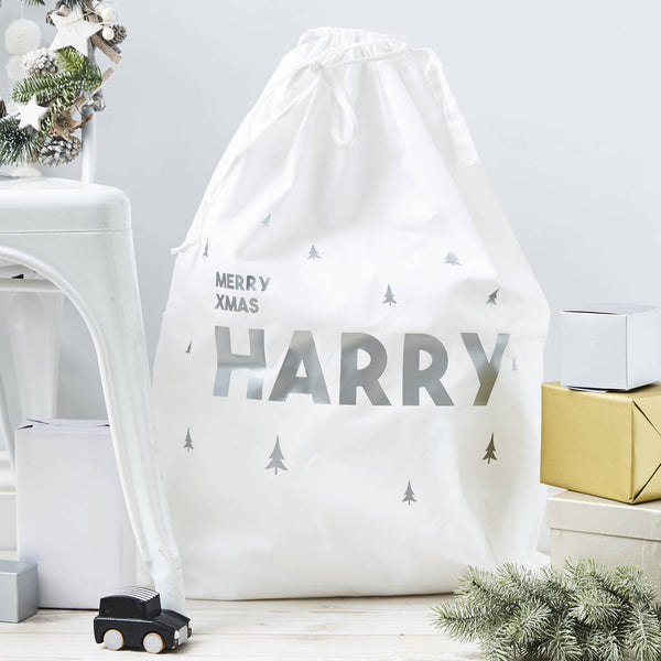 Little Trees Personalised Christmas Sack
