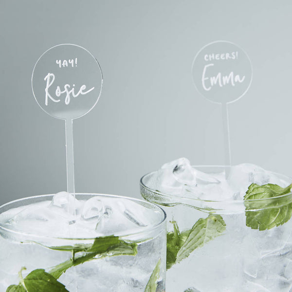 Engraved Personalised Drink Stirrers