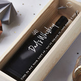 Whiskey Personalised Bottle Box