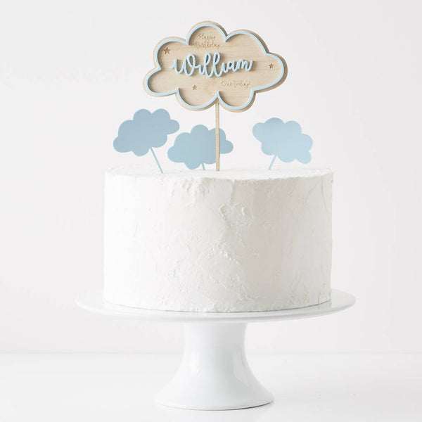 Personalised Clouds Birthday Cake Topper