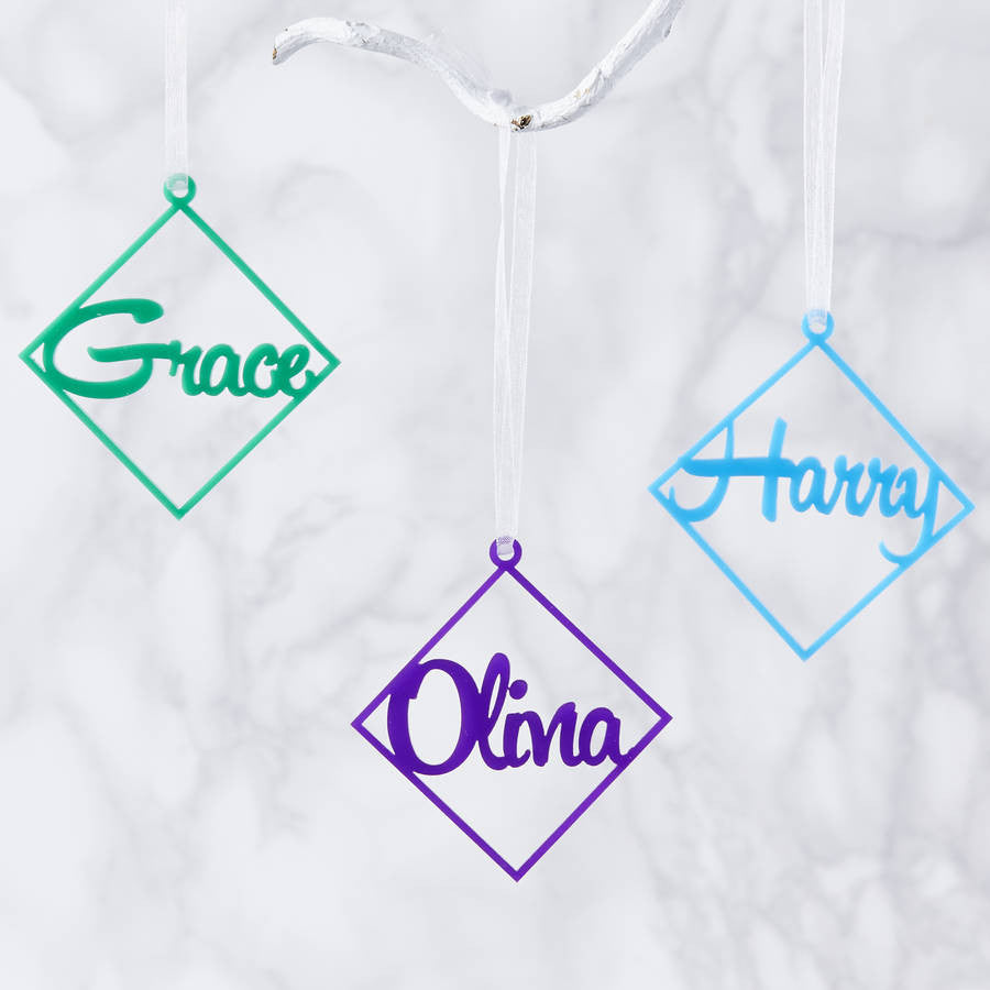 Personalised Diamond Christmas Decoration