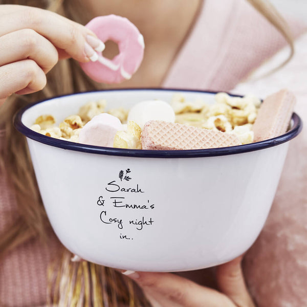 Personalised Cosy Night In Treat Bowl