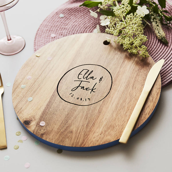 Personalised Couples Chopping Board