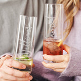 Personalised Couples Engraved Glass Set