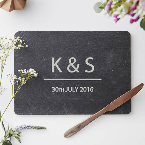 Personalised Couples Cheese Board
