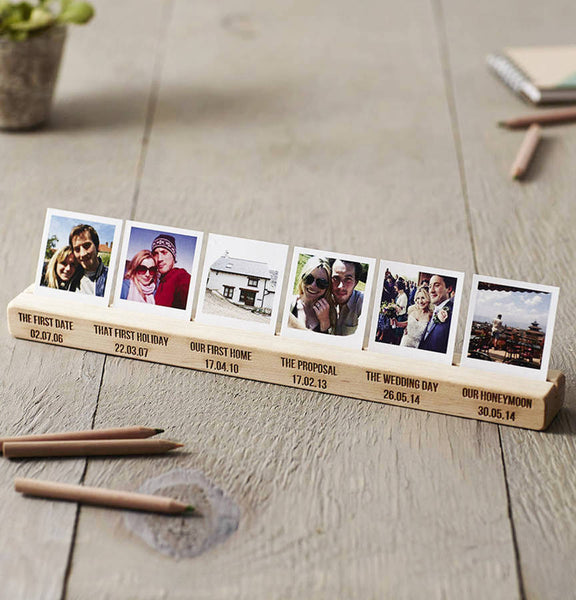 Personalised Couples Timeline Photo Block