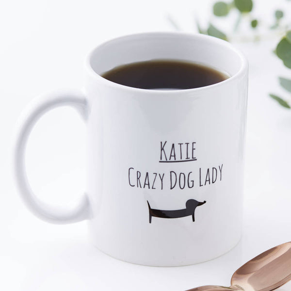 Personalised Dog Lady Mug