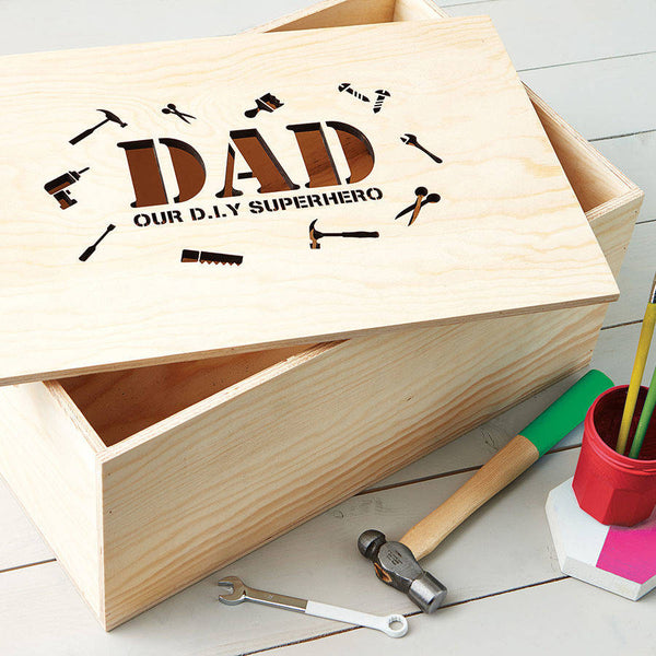 Personalised Dad's Diy Storage Crate