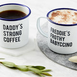 Personalised Daddy And Me Enamel Mugs