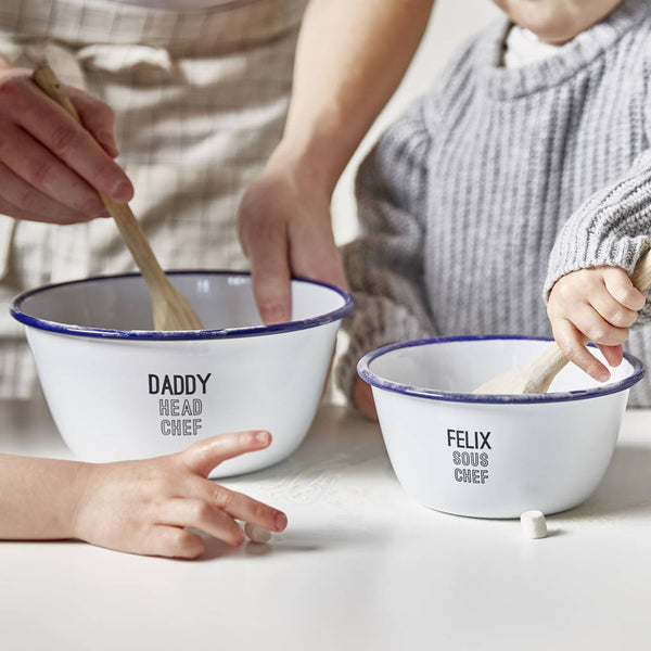 Personalised Daddy And Me Mixing Bowls