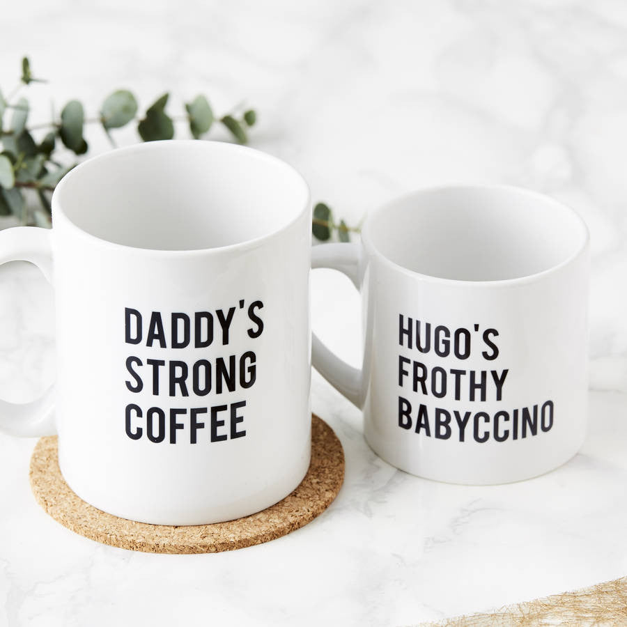 Personalised Daddy And Me Mugs