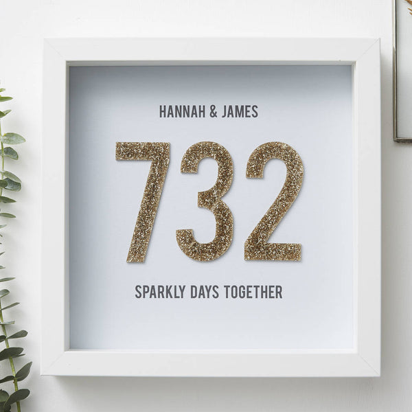 Personalised Days Together Framed Print
