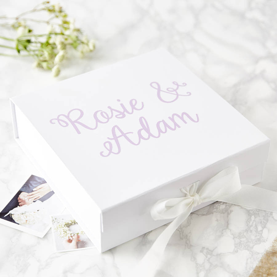 Personalised Decorative Couple's Keepsake Box