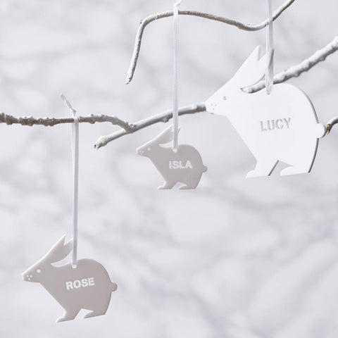 Personalised Easter Bunny Decorations