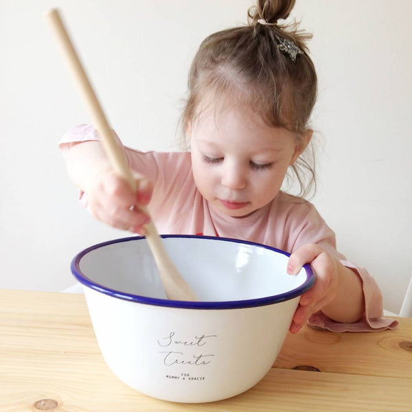 Personalised Enamel Mixing Bowl