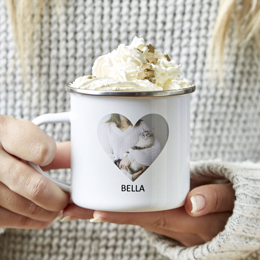 Personalised Enamel Pet Photo Mug