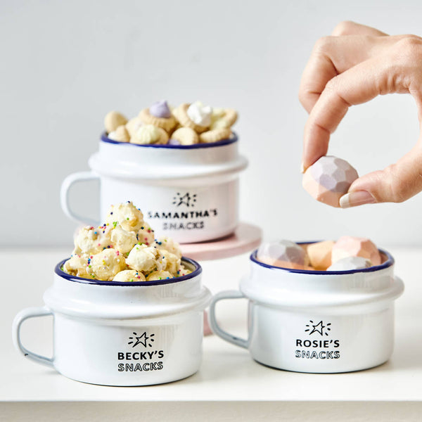 Personalised Enamel Snack Pot