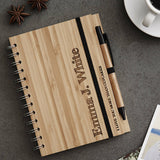 Personalised Etched Wooden Notebook Set For Her
