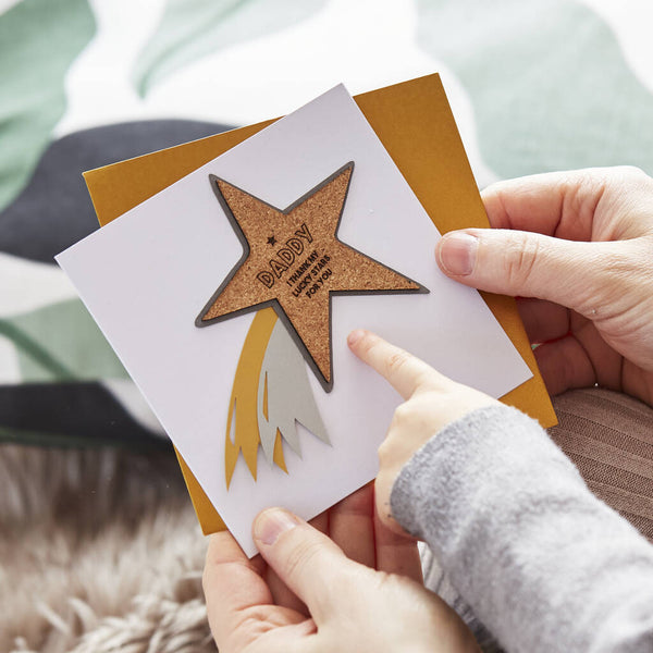 Personalised Fathers Day Shooting Star Card