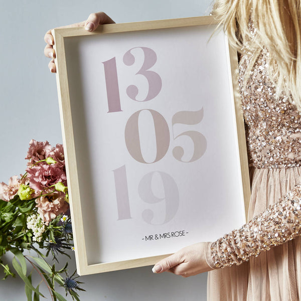 Personalised Favourite Date Print
