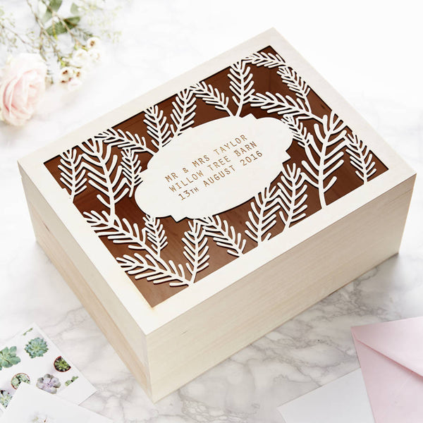 Personalised Fern Keepsake Box