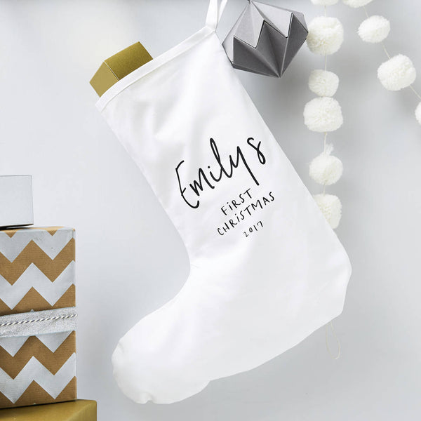 Babys First Christmas Personalised Stocking